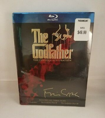 New Sealed The Godfather Trilogy Collection Coppola Restoration Blu-Ray Set