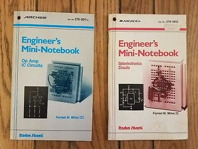 Lot of 2 Archer Engineer's Mini Notebooks Books - Radio Shack - Forrest M. Mims