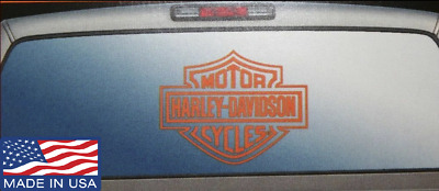 "Harley-Davidson Logo Cutz 14.25"" x 11"" Rear Window Graphix Decal Orange - XLO"
