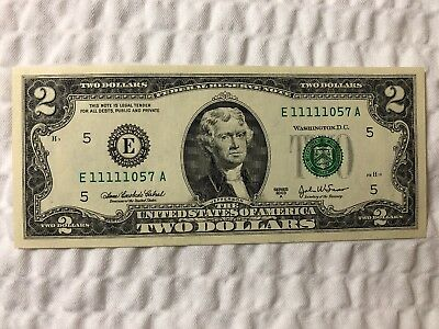 SERIES 2003A CU TWO DOLLAR CRISP $2 NOTEs REPEATER, SOLID 1st QUAD & 5 of a KIND