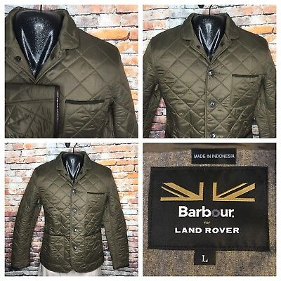 Barbour x Land Rover Filey Quilted Racer Jacket Mens Large