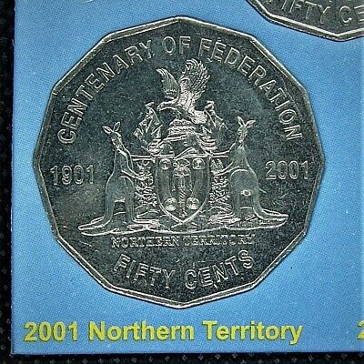 **2001 Northern Territory 50 cent UNCIRC. Centenary of Federation coin from set!