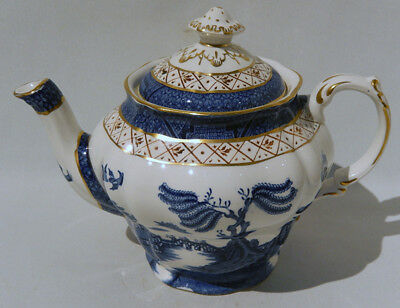 Vintage Original BOOTHS REAL OLD WILLOW 1 PINT 16 OZ TEAPOT Set A8025 Pattern