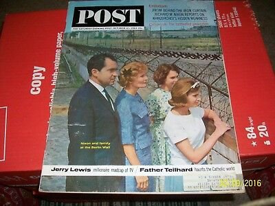 Saturday Evening Post Magazine  October 12,1963 Nixon VINTAGE ADS