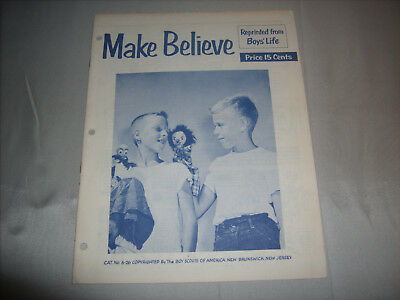 Vintage BSA Boy Scouts of America MAKE BELIEVE Boys' Life Reprint Booklet 1950s