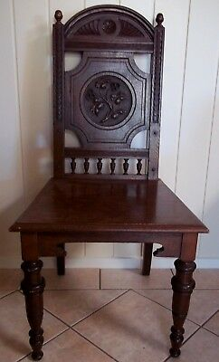 Antique Oak Hall Chair , pick up in Geelong