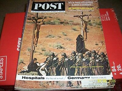Saturday Evening Post Magazine October 19,1963  Biblical Scene  VINTAGE ADS