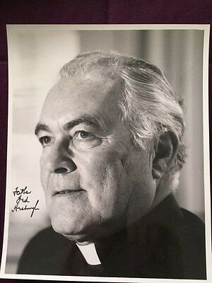 Father Theodore Ted Hesburgh Notre Dame Autographed Signed Photo