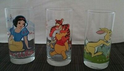 IXL Collectable glasses x4 Disney 2-4,Looney Tunes 1-6,Rabbit 5-6,Snow White 8-8