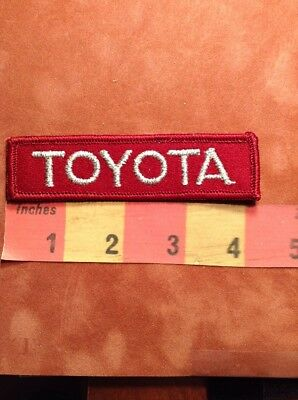 Circa 1990s Maroon TOYOTA Japan Car Manufacturer / Auto Jacket Patch 75Y8