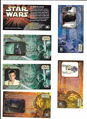STAR WARS Episode 1 TOPPS Widevision Trading Cards 29 cards + 7 wrappers