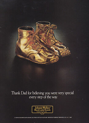1982 Johnnie Walker: Thank Dad for Believing You Were Very Vintage Print Ad