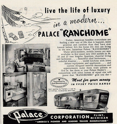 1953 Palace Ranchome: Live the Life of Luxury Vintage Print Ad