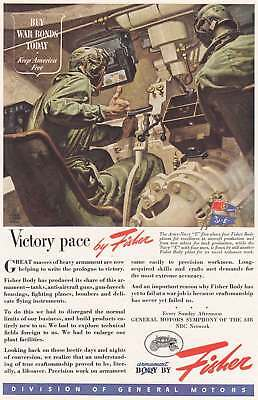 1944 Body by Fisher: Victory Pace Vintage Print Ad