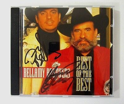 Vintage Bellamy Brothers SIGNED CD Best of the Best 1992 Autographed Very Good C