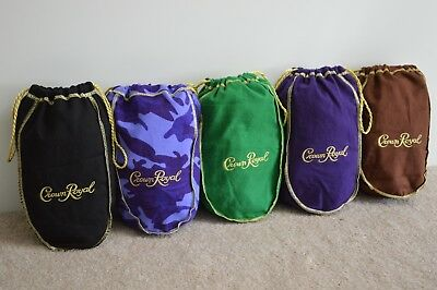 Lot Of 5 Crown Royal Bags NEW