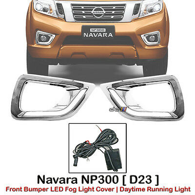 paar LED Daytime Running Light DRL Nebelleuchte Lamp Cover für Navara NP300 D23
