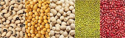 5 Legumes pack | Black eyed bean | Chickpea | Moong Dal | Red kidney | Soyabean
