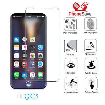 2 x Genuine Nuglas Tempered Glass Screen Protectors For iPhone Xs, Xs Max & Xr