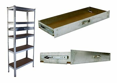 Sheffield Metal 5 Tier Storage Racking Unit with Optional Drawers - Steel Frame