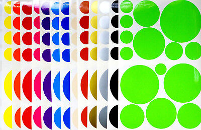 Various Colours Multicolor Polka Dots Decals Stickers Circles Wall Bathroom Home