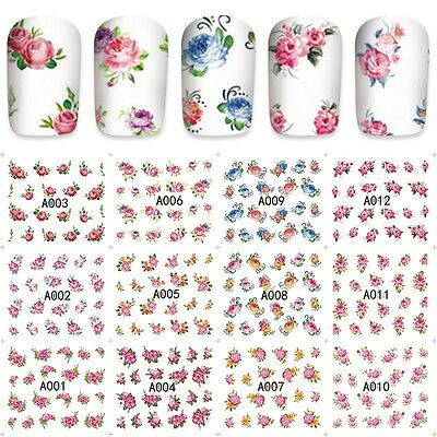 SPRING FLOWERS MANICURE FIORI unghie Stickers nail art water decals POLISH GEL