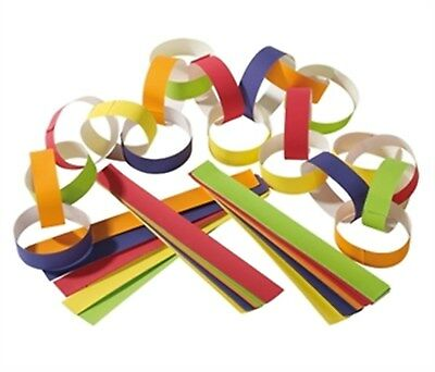 300 Piece Xmas Paper Chains Bright Traditional Vintage Christmas Decorations