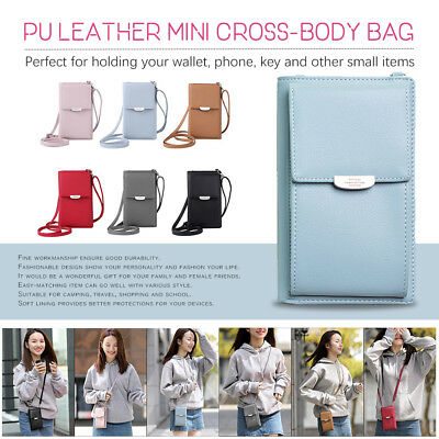 Womens Wallet Purse Bag Leather Coin Cell Phone Bags Mini Cross-body Shoulder AU