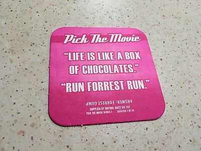 "Collectable drink coasters - ""PICK THE MOVIE"" NEW PERFECT CONDITION"