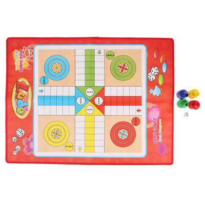 L Size Non-woven Ludo Game Portable Fun Flying Chess Board Games with Family
