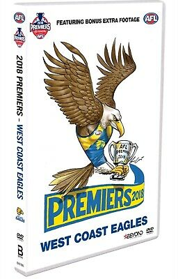 AFL 2018 GRAND FINAL West Coast Eagles vs Collingwood Magpies R4 BRAND NEW DVD