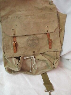 Vintage 1960's Boy Scouts of America canvas & Leather Yucca #574 large Backpack