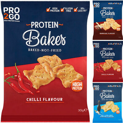 Sci-Mx Pro2Go Bakes High Protein 12 x 30g Crisps Whey Pro 2 Go Duo Snack Chips