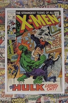 X-Men #66 - Mar 1970 - Last Before Reprints! - Vfn- (7.5) High Grade Pence Copy!