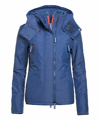 Superdry Mujer Chaqueta Hooded Wind Yachter Light Azul Marga