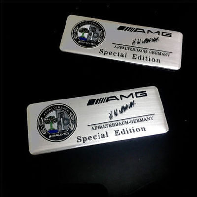 2pcs Affalterbach LOGO EMBLEMA MERCEDES BENZ AMG METALLO ADESIVO STEMMA BADGE