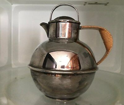 Antique Webster & Son Silver Plated Guernsey Pitcher Jug PotChannel Isle Nice