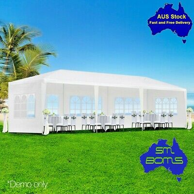 3x9m Gazebo Market Tent Pavilion Wedding Marquee Shade Cover Canopy Event-White