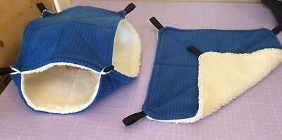 New 2X Quilted Hammocks 1X Flat 1X Double For Rats +small Animals. Sherpa Fleece
