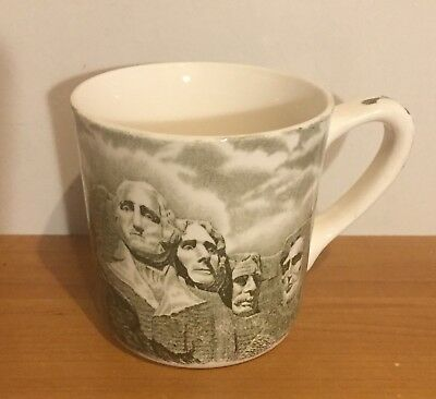 Vintage MOUNT RUSHMORE Johnson Brothers England Black Hills SD Coffee Cup Mug