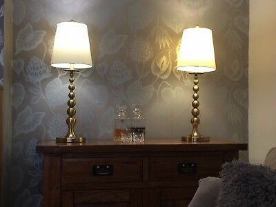 Pair Of Beautiful Ralph Lauren Brushed Gold Lamp.