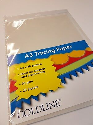 A3 Tracing Paper Sheets. Pack of 20. 90gsm