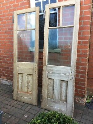 Antique Reclaimed Tall Vintage Solid Wooden French Doors-Substantial, imposing!