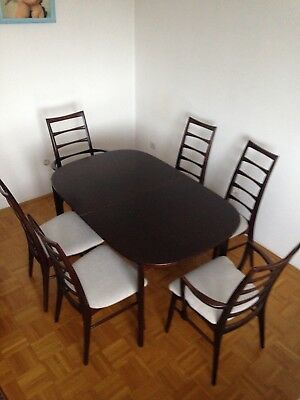 Danish Mid century modern Niels Koefoeds Dining Set 6 Chairs and table
