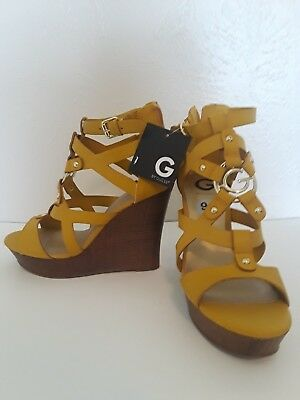 48bdddc2a35 G by Guess Womens Dodge Open Toe Casual Platform Sandals Size 9.5 BRAND NEW