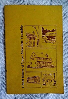 1976 Booklet A Brief History of Upper Makefield Township Bucks County PA