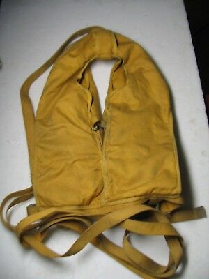 Vintage 1949 B-5 Air Force Life Preserver w/Dye Pack, Whistle & Shark Chaser