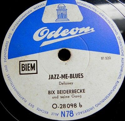 0846/ BIX BEIDERBECKE- At Jazz Band Ball-Jazz me Blues-Schellack-Schellackplatte