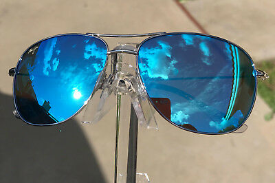New MAUI-JIM CLIFF HOUSE B247-17 SILVER FRAME BLUE HAWAII POLARIZED LENS mm 033e8cb2ddc9