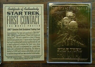 Star Trek  First Contact 23 Karat All Gold  Limited Edition Trading Card Skybox